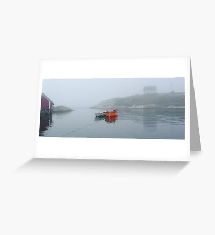 Tenders in Peggys Cove Greeting Card