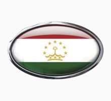 Tajikistan Flag in Glass Oval by Ovals