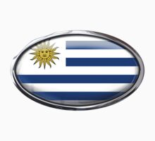 Uruguay Flag in Glass Oval by Ovals