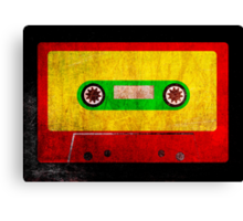 Grunge Reggae Cassette Tape - Cool Retro Music Prints Canvas Print