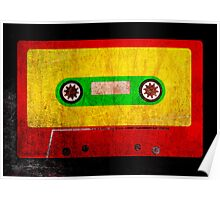 Grunge Reggae Cassette Tape - Cool Retro Music Prints Poster