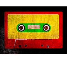 Grunge Reggae Cassette Tape - Cool Retro Music Prints Photographic Print