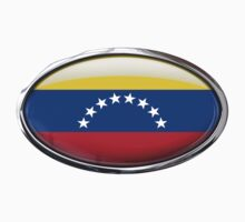 Venezuela Flag in Glass Oval by Ovals