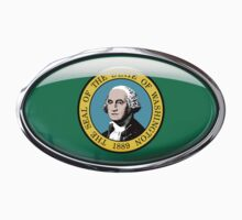 Washington Flag in Glass Oval by Ovals