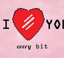 I Love You Greeting Card by dafiker