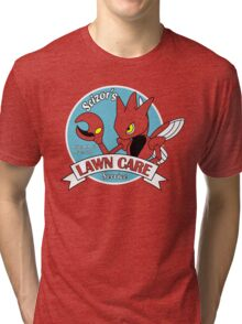 Scizor Lawn Care Red Shirt Tri-blend T-Shirt