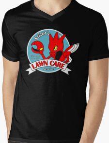 Scizor's Lawn Care Black Shirt Mens V-Neck T-Shirt