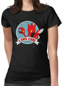 Scizor's Lawn Care Black Shirt Womens Fitted T-Shirt
