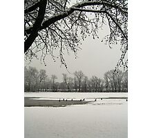 Snow time Photographic Print