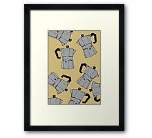 coffeepot pattern Framed Print