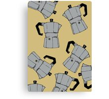 coffeepot pattern Canvas Print