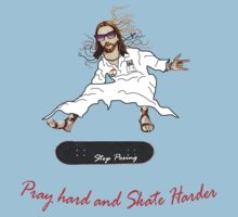 Skateboarder Jesus Knows The Pain by Padre GiuliAno