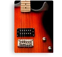 Electric Guitar up close Canvas Print