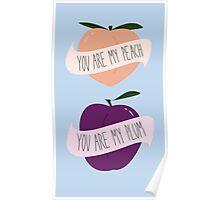 Peach/Plum Poster