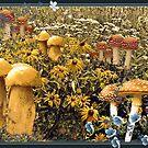 Giant Golden Mushrooms by Linda Miller Gesualdo
