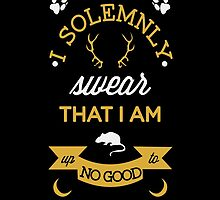 Harry Potter shirt, I solemnly swear that I am up to no good - Marauder's map by Danny  Porter