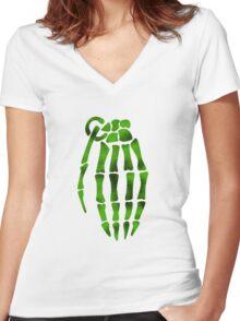 jesse pinkman skeleton hand  Women's Fitted V-Neck T-Shirt