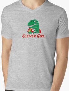 clever girl, jurassic Mens V-Neck T-Shirt