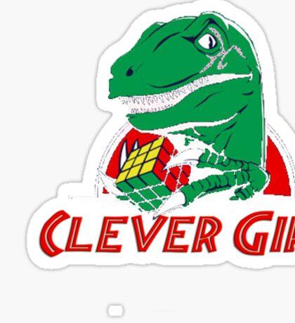 clever girl, jurassic Sticker