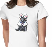 Grumpy Pug Bunny Womens Fitted T-Shirt