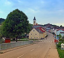 Bridge into the village center | landscape photography by Patrick Jobst