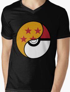Dragon Ball x Pokemon Mens V-Neck T-Shirt