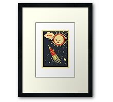 WTF soviet space ship Framed Print