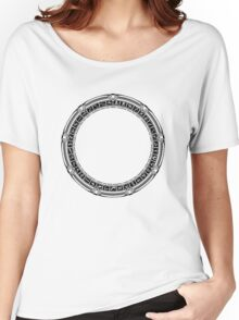 The Stargate black ink Women's Relaxed Fit T-Shirt