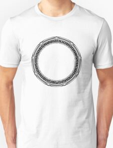 The Stargate black ink Unisex T-Shirt