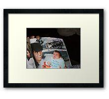 FIRST BORN Framed Print