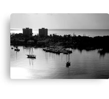 Sunset in Jamaica - Monochrome Canvas Print