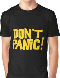The Hitchhikers Guide to the Galaxy - Don't Panic Graphic T-Shirt
