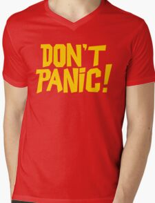 The Hitchhikers Guide to the Galaxy - Don't Panic Mens V-Neck T-Shirt