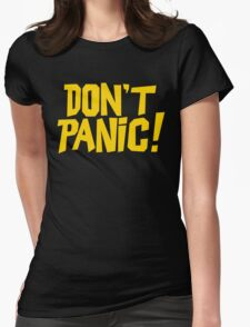 The Hitchhikers Guide to the Galaxy - Don't Panic Womens Fitted T-Shirt