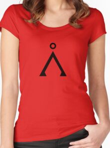 Stargate's Home Origin Symbol Women's Fitted Scoop T-Shirt