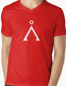 Stargate's Home Origin Symbol White Mens V-Neck T-Shirt