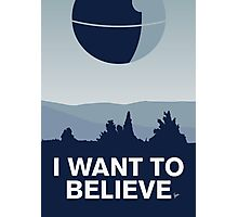 My I want to believe minimal poster-deathstar Photographic Print