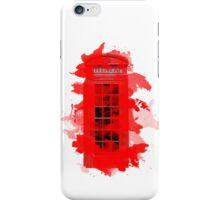 Red Telephone Splatter Box iPhone Case/Skin