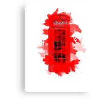 Red Telephone Splatter Box Canvas Print