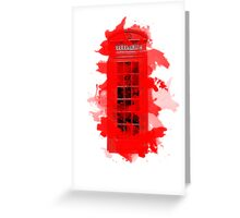 Red Telephone Splatter Box Greeting Card