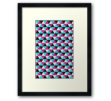 Space Triangles Framed Print