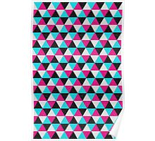 Space Triangles Poster