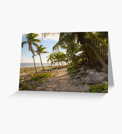Leaning Palms Greeting Card