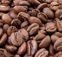 Roasted Coffee Beans by cadellin
