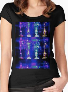 Psychedelic Flame Women's Fitted Scoop T-Shirt