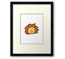 Orange Haired Little Girl Framed Print