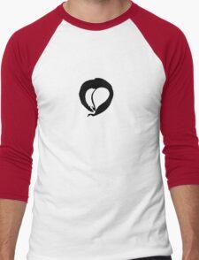 Ink Heart in Red Men's Baseball ¾ T-Shirt