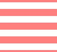 Coral White Stripes by M Studio Designs