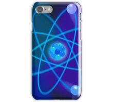 Vibrant Blue Atomic Structure iPhone Case/Skin