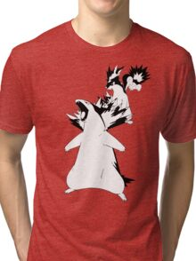 Cyndaquil Evolution Line Tri-blend T-Shirt